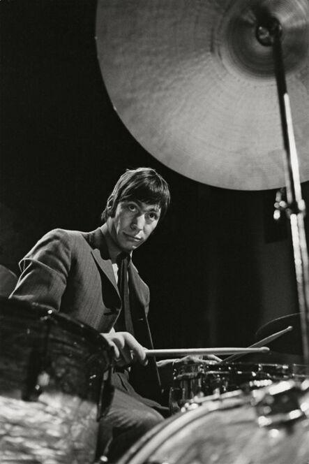 """Bent Rej, '""""The Drummer"""" Charlie Watts on Stage, Copenhagen, 1965', 1965"""