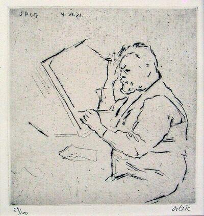 Emil Orlik, 'Portrait of Slevogt', 1921