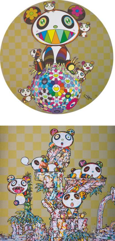 Takashi Murakami, 'Panda, Panda Cubs and Flowerball; and Panda Cubs Panda Cubs', 2019