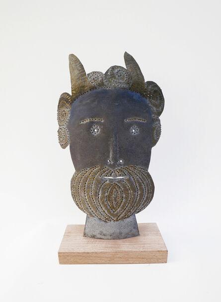 Jean Dessirier, 'Faune gaulois avec barbe dorée', 1994