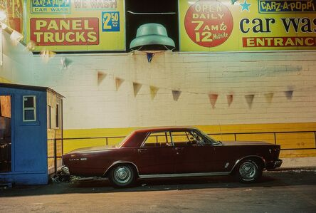 Langdon Clay, 'Carz-A-Poppin, Ford Galaxie 500 (1966), Houston and Broadway', 1976