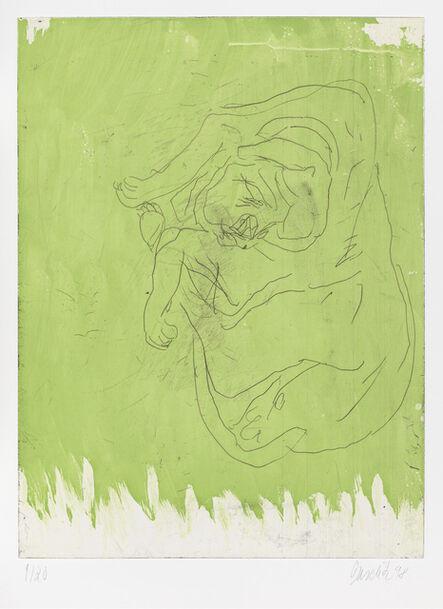 """Georg Baselitz, 'Massimo, from """"Schlafende Hunde""""', 1998-1999"""