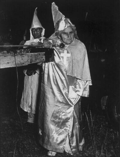 W. Eugene Smith, 'Female Spokeswoman for White Superiority, from The Ku Klux Klan', 1951