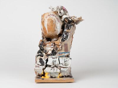 Kahlil Robert Irving, 'Tilted Mass: Crushed Floral vessel (circa: some century) Enjoy Heaven', 2018