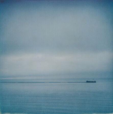 Kirsten Thys van den Audenaerde, 'Almost Blue - Contemporary, Polaroid, Landscape, Color, Landmark, Salton Sea, Bomnbay Beach', 2018