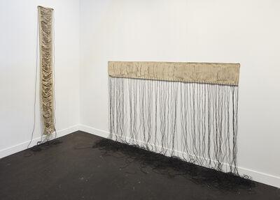 Leonor Antunes, 'folded back against the pillars', 2008