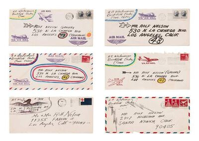 H.C. Westermann, 'Untitled (To Rolf Nelson), 1963-68 (a group of six embellished envelopes)'