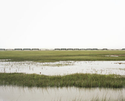 Victoria Sambunaris, 'Untitled (Trains Crossing Estuarial Corridor-4), Virginia Point, Texas', 2015