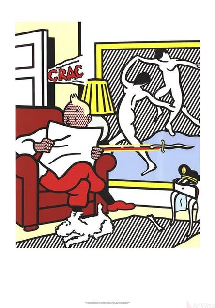 Roy Lichtenstein, 'Tintin Reading', 1995