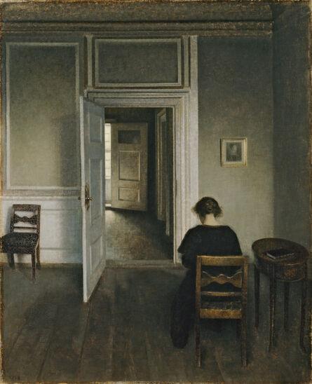 Vilhelm Hammershøi, 'Interiør, Strandgade 30', 1906-1908