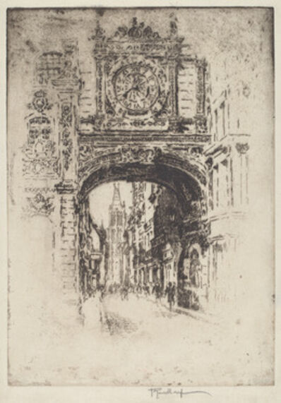 Joseph Pennell, 'Grosse Horloge, Rouen', 1907