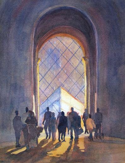 Jann Pollard, 'Entering the Louvre, Paris', 2017
