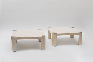 Karl Springer, 'Pair of Goatskin Occasional Tables', ca. 1980