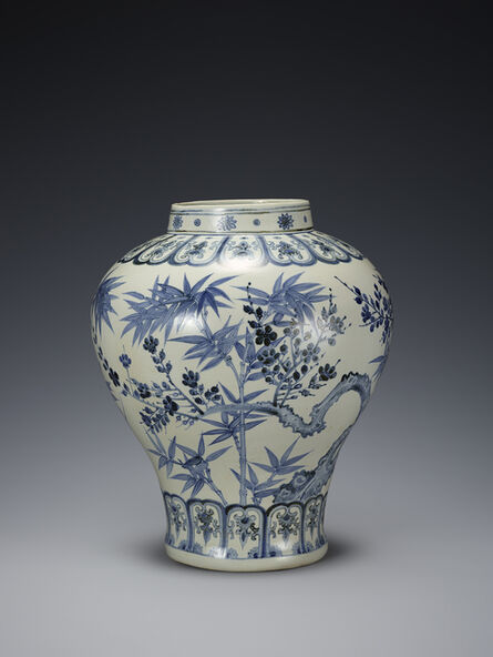 Unknown Artist, 'Blue and White Porcelain Jar', Joseon Dynasty-15th century