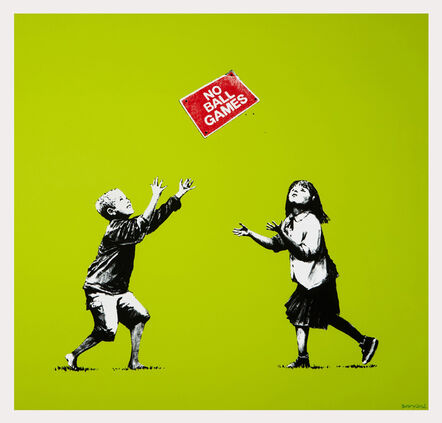 Banksy, 'No Ball Games (Green) - Signed', 2009