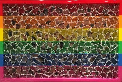 David Datuna, 'Rainbow Flag Hollywood Series: Colors of Fame', 2016