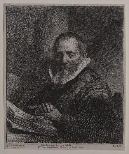 Rembrandt van Rijn, 'Portrait of Jan Cornelius Sylvius', 1633