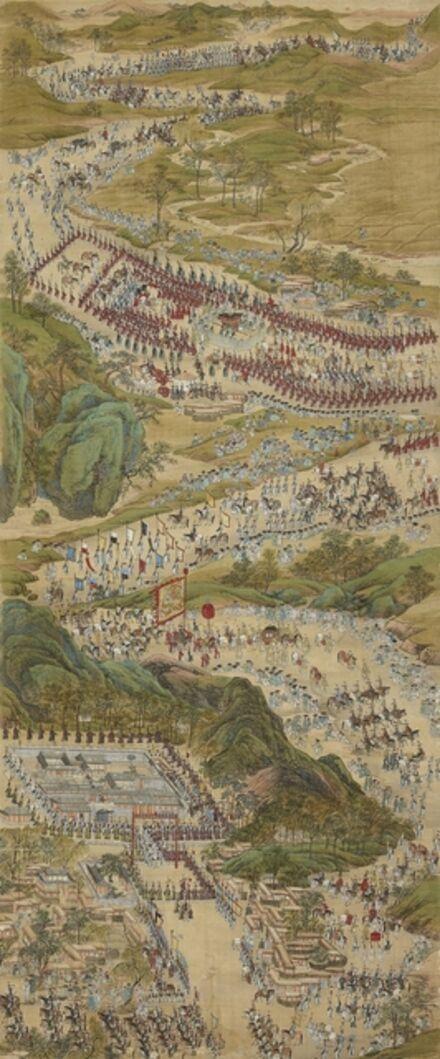 Deuk-sin Kim, 'Royal Procession Back to Seoul', Joseon Dynasty-Late 18th century