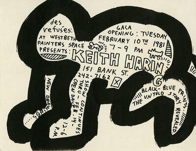 """Keith Haring, 'Keith Haring """"Des Refusés"""" at Westbeth Painters Space', 1981"""