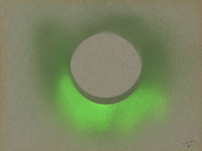 Walter Darby Bannard, 'Untitled (Green Krylon on Gray)', 1964