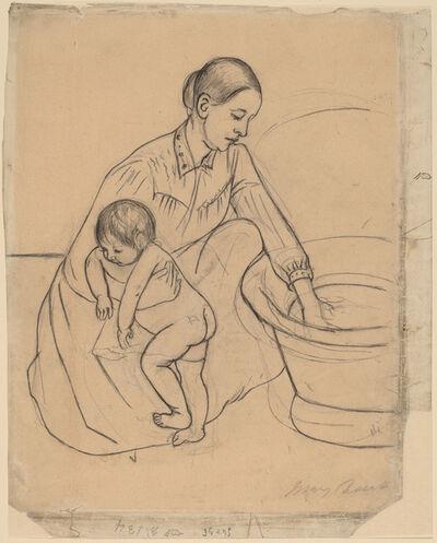Mary Cassatt, 'The Bath [recto]', 1891