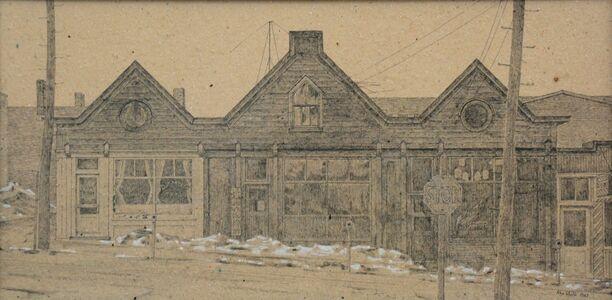 Alex Colville, 'Buildings In Amhurst', 1967