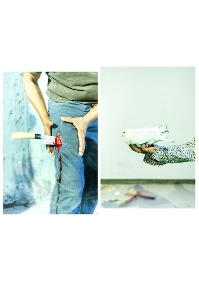 Sarker Protick, ''Kinife and Bird' from the Series 'Love Me or Kill Me' Diptych'