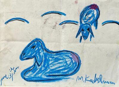 Menashe Kadishman, 'Blue Goats', Late 20th century