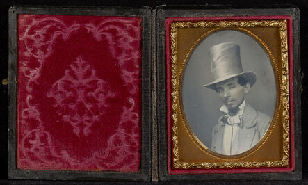 Unknown Artist, 'Portrait of a Young Man in a Top Hat', ca. 1850