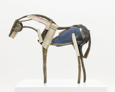 Deborah Butterfield, 'PINK AND  BLUE', 2019