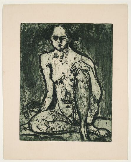 Ernst Ludwig Kirchner, 'Sitzender Mädchenakt', 1907