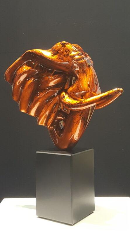 Anis Dargaa, 'Éléphantasme Orange', 2017
