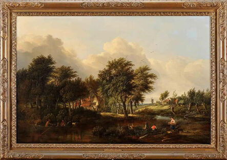Unknown, 'Landscape with Stream', Early 19th Century