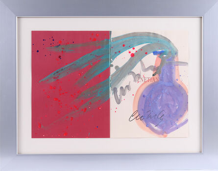 Dale Chihuly, 'Dale Chihuly Drawing Venetian Acrylic Original Signed Painting from book', 1989