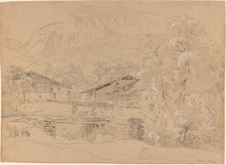 Jean Antoine Linck, 'An Alpine Village in Summertime'
