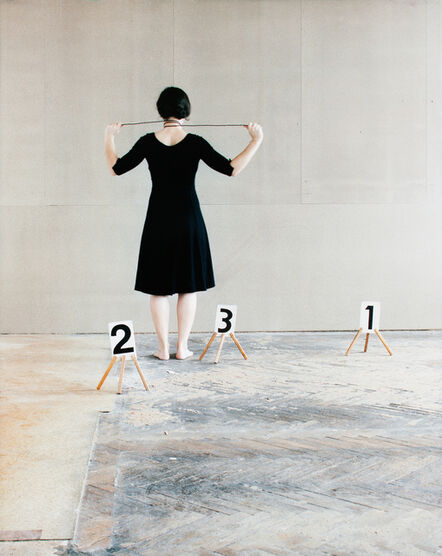 Nadja Bournonville, 'Some Marks, A Square, and a Figure (triptych part 3/3)', 2012