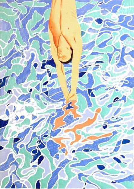 David Hockney, 'The Diver', 1972