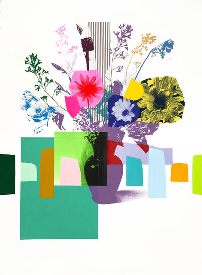 Emily Filler, 'Paper Bouquet (Red + Hot Pink Flower)', 2021