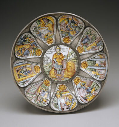 'Bowl with Judah and Lion Surrounded by Scened from the Book of Esther', ca. 1690