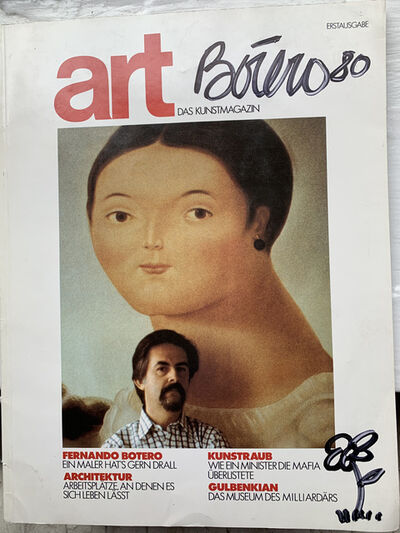 Fernando Botero, 'art DAS KUNSTMAGAZIN', 1980