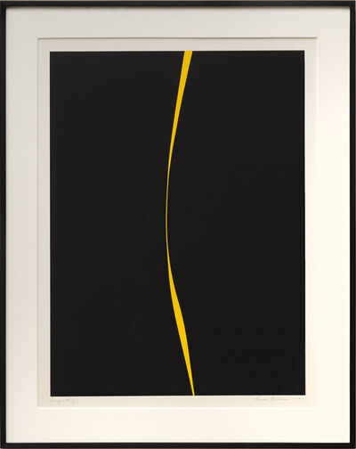 Lorser Feitelson, 'Untitled (Black with Yellow Line)', 1971