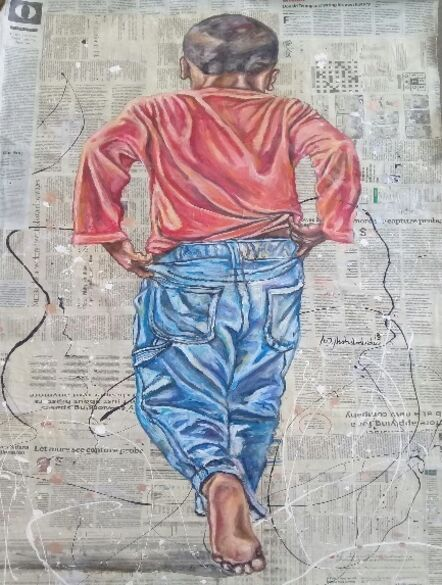 Andrew Ntshabele, 'Boy With Blue Trousers'