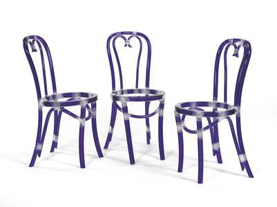 Rita McBride, 'Chairs (Blue)', 2000