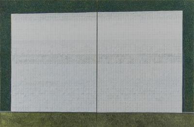 Zeng Hong 曾宏, 'White Blocks on Green', 2013