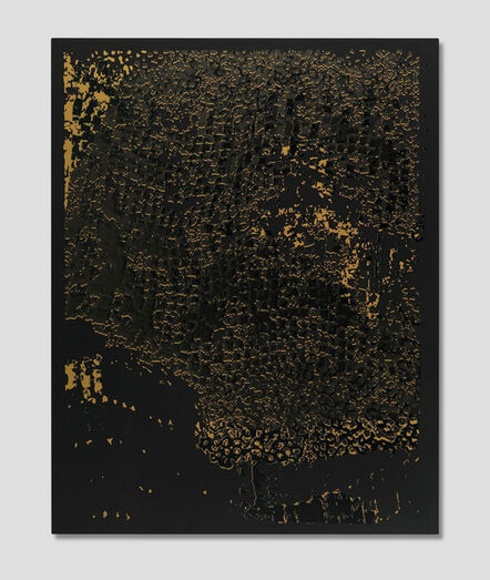 El Anatsui, 'Black Edge with Pearl', 2013