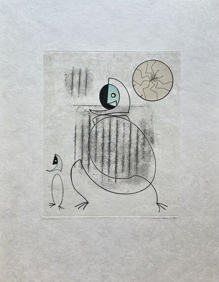 Max Ernst, 'Mon fiancé est une idée saugrenue', 1975