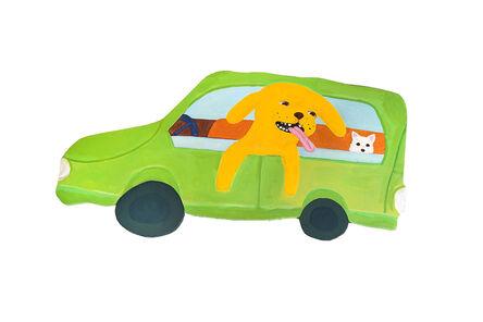 Katie Kimmel, 'Dogs in a Nissan Cube', 2018