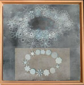 Richard Purdy, 'Theory and Experiment, Encaustic and Laminated Paper on Plywood', 1990-1999