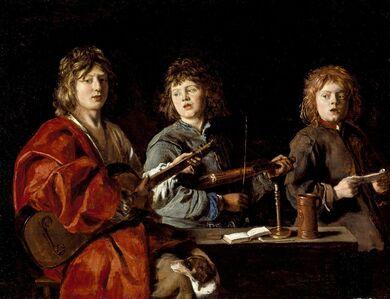 Louis Le Nain, 'Three Young Musicians', ca. 1640