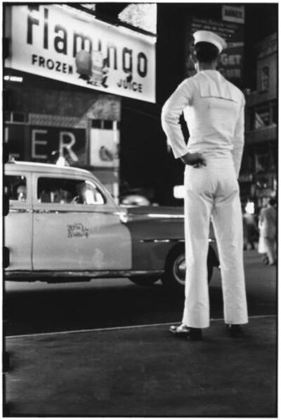 Elliott Erwitt, 'Time square NY', 1950